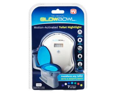 Mozgásérzékelős színes WC világítás