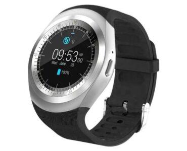 Y1 Smart watch android okosóra fekete színben magyar nyelvű menüvel