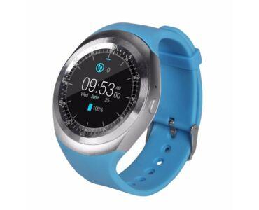 Y1 Smart watch android okosóra kék színben magyar nyelvű menüvel