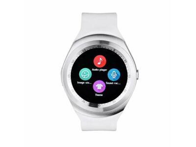 Y1 Smart watch android okosóra fehér színben magyar nyelvű menüvel