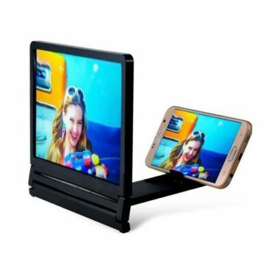 Mobil telefon kinagyító 3 D plasztik ki vetítő, össze csukható Expander állvánnyal.