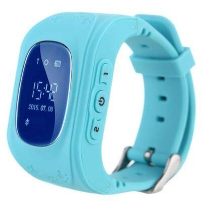 Merystyle@Q50 GPS nyomkövető okos óra gyerekeknek - Kék színben
