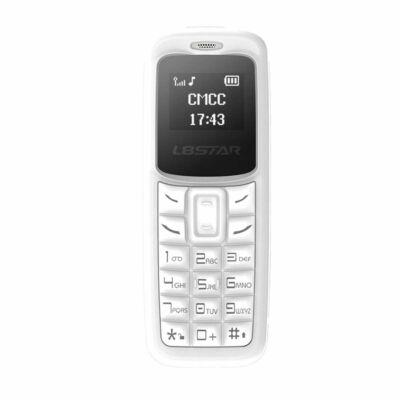 Merystyle@L8Star BM30 ultramini kártyafüggetlen mobiltelefon és headset fehér színben