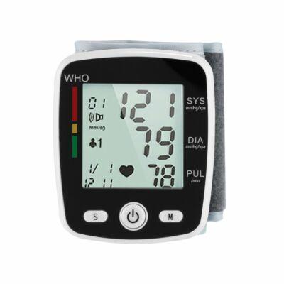 Digitális LCD csuklóvérnyomásmérő WHO skálával-Akkumulátorral