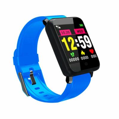 Merystyle@F1 pulzus és vérnyomásmérőmérő Fitness Sport Smart Watch - Kék