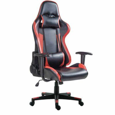 Merystyle-Gamer szék PRO dönthető hát- és ülőfelülettel - piros-fekete