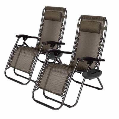 Merystyle@2 db Zéró gravitáció kerti szék ajándék pohártartóval