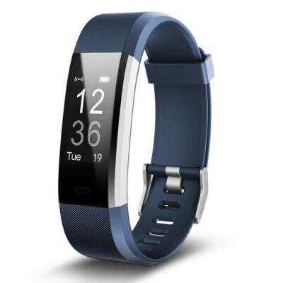ID115 Smart Fitness okosóra pulzus és vérnyomásmérővel - Kék