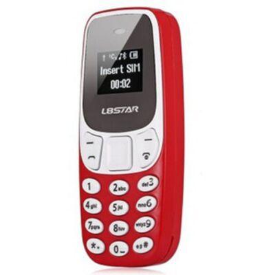 L8Star BM10 Mini kártyafüggetlen mobiltelefon - Piros