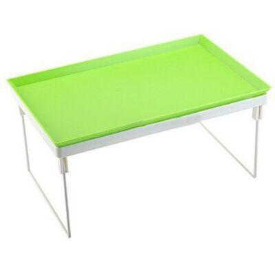 Összecsukható multifunkcionális laptop asztal levehető tálcával - Zöld