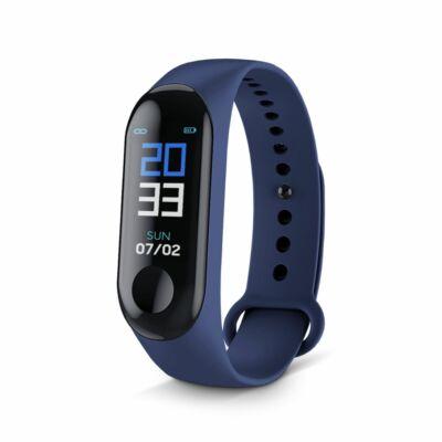 Merystyle-M3 Smart Fitness okoskarkötő pulzus és vérnyomás mérővel - kék színben