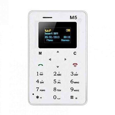 Merystyle@M5 Kártyafüggetlen Ultra Mini Mobiltelefon - Fehér színben - 128 MB  rating