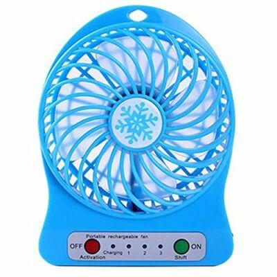 Marystyle@Akkumulátoros mini ventilátor - kék
