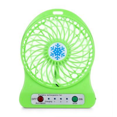 Akkumulátoros mini ventilátor - zöld