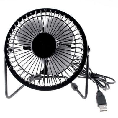 Merystyle@USB asztali mini ventilátor - fekete színben