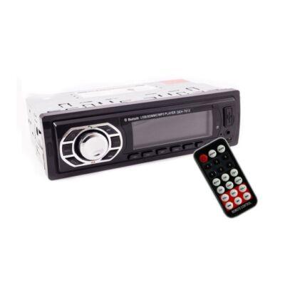 Autórádió fejegység, Bluetooth + MP3-as lejátszó + USB + SD + MMC + FM rádió