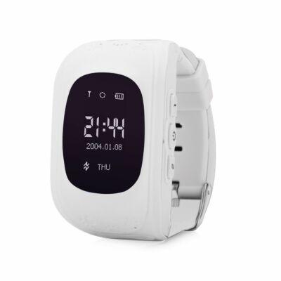 Q50 GPS nyomkövető okos óra gyerekeknek - Fehér színben