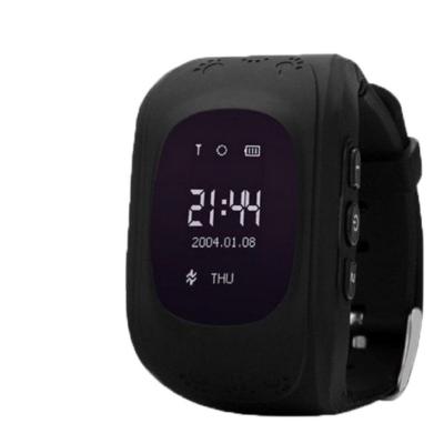 Merystyle@Q50 GPS nyomkövető okos óra gyerekeknek - Fekete színben