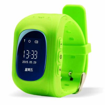Merystyle@Q50 GPS nyomkövető okos óra gyerekeknek - Zöld színben