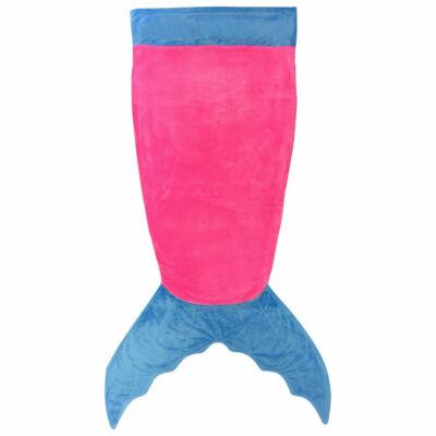 Sellő farkú takaró kék-rózsaszín