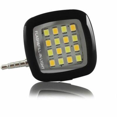 Merystyle@Mini külső LED vaku okostelefonhoz - fekete