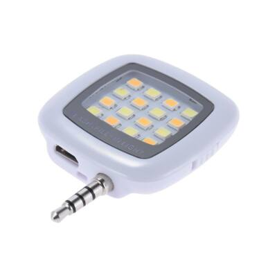 Mini külső LED vaku okostelefonhoz - fehér