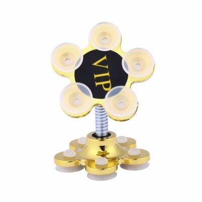 Magic Flower univerzális tapadókorongos telefontartó - arany színben
