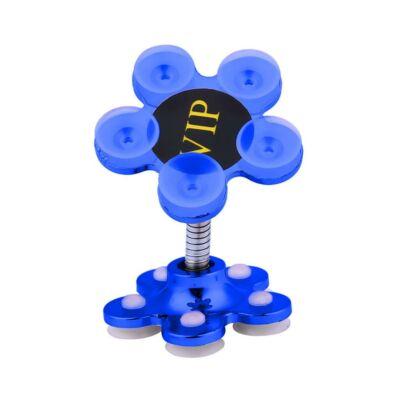 Magic Flower univerzális tapadókorongos telefontartó - kék színben
