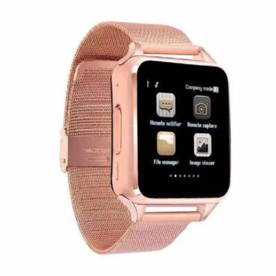 Smart Watch X6D fém szíjas SIM kártyás okosóra - Arany színben