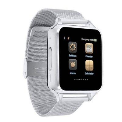 Merystyle@Smart Watch X6D fém szíjas SIM kártyás okosóra - Ezüst színben