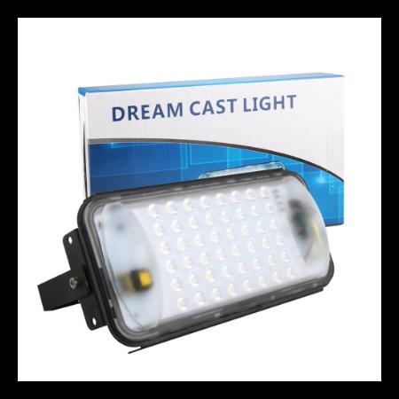 50 W LED fényvető kültéri  reflektor 48 ledes/50.000 üzemóra Dream cast light
