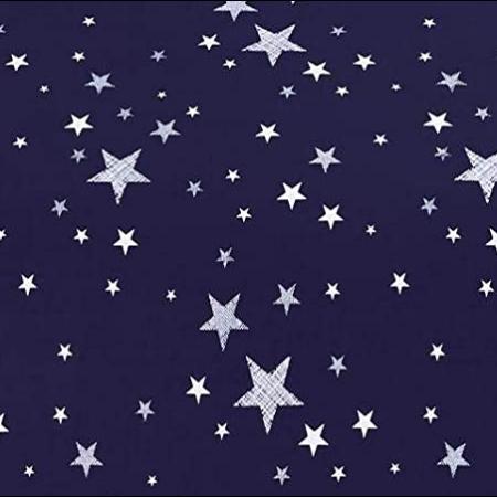 3 részes ágynemű szett - Kék, csillag mintás - MS-253