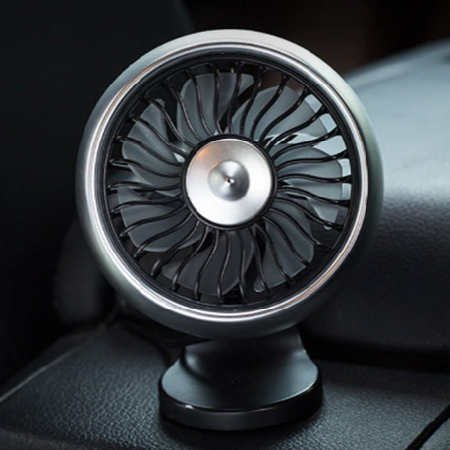 Autós mini ventilátor USB-vel - Ezüst színben - MS-125