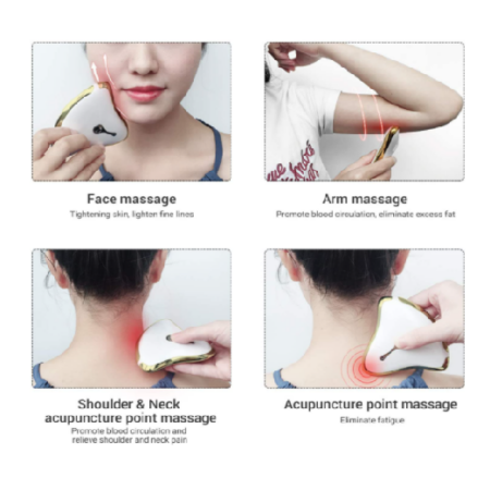 Ms.W elektromos arcmasszírozó, bőrápoló eszköz 45 ℃ hővel és rezgéssel - Vízálló