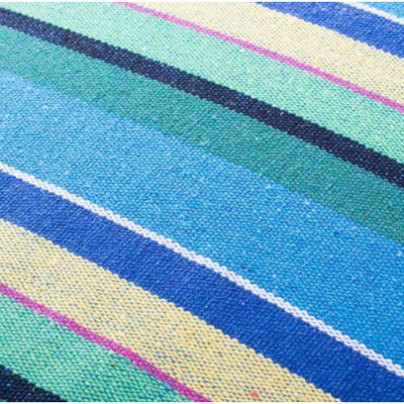 Függőszék karfával - Kék-Zöld-Sárga csíkos - MS-235