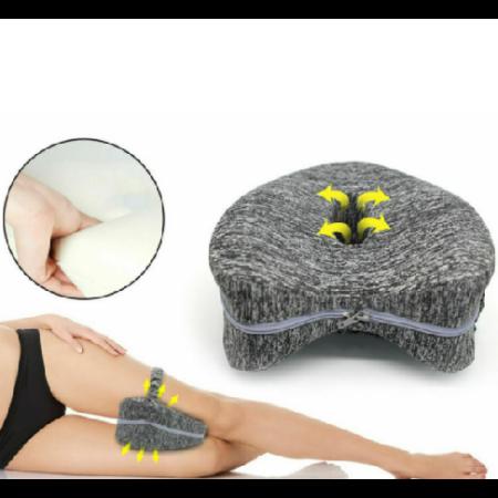 Leg Pillow láb- és térdtámasztó memóriahabos párna, szürke - MS-226