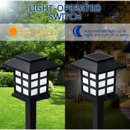 Leszúrható kerti napelemes lámpa, 4 db - MS-206