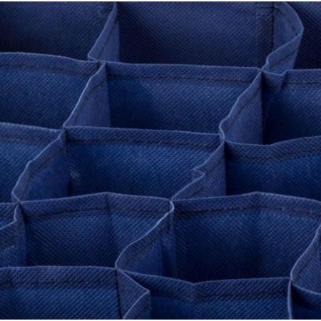 Tároló fehérneműknek, 24 rekesszel - Kék/Zöld színben - MS-213
