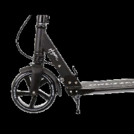 Összecsukható teleszkópos városi roller - Fekete színben