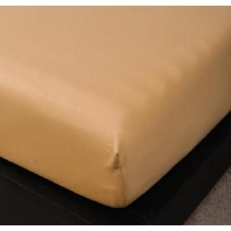 Sofy pamut gumis lepedő, 180x200 cm - Világosbarna színben