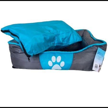 Tappancs kutyafekhely - Szürke-Kék színben - 75x48x20 cm