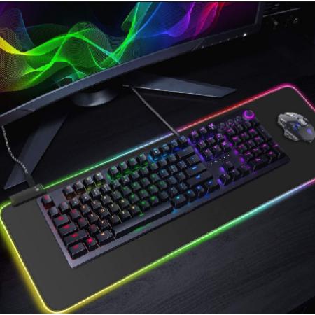Egérpad RGB LED világítással, USB-vel - MS-249
