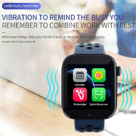Smart Watch Phone Z6S SIM kártyás intelligens okosóra Angol menüvel - Fehér/Fekete