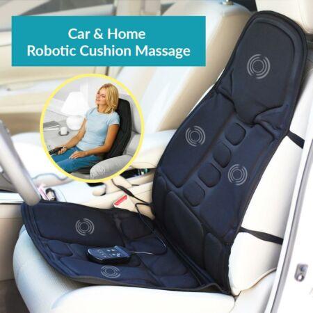 Prémium fűthető masszázsülés autóba és otthonra.- Rezgés rezonanciával.