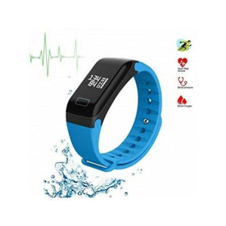 F1 Plus Smart Fitness Karkötő-Vér oxigén mérővel.-Kék színben