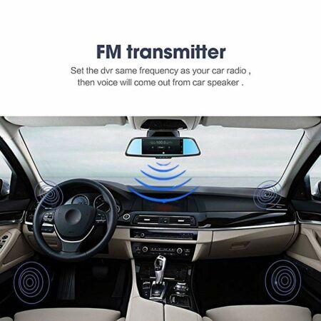 Visszapillantó tükörbe épített full HD Smart fedélzeti kamerás, tolatókamerás, GPS navigációs, érintőképernyős  készülék