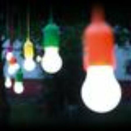 Handy LED Rainbow hordozható lámpa- 1 db piros színben