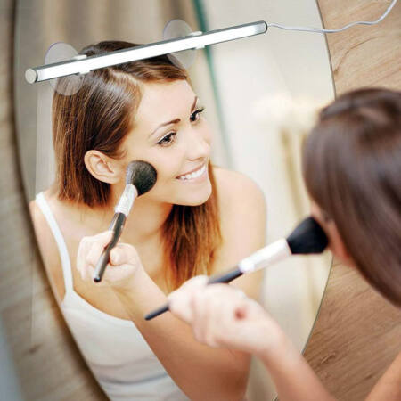 Beauty Bright tükörre rögzíthető LED-es kozmetikai lámpa