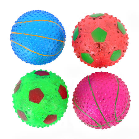 Sípolós Kutyajáték labda 7,5 cm kék színben