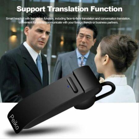 Peiko Bluetooth fordító fülhallgató, szinkron tolmácsgép
